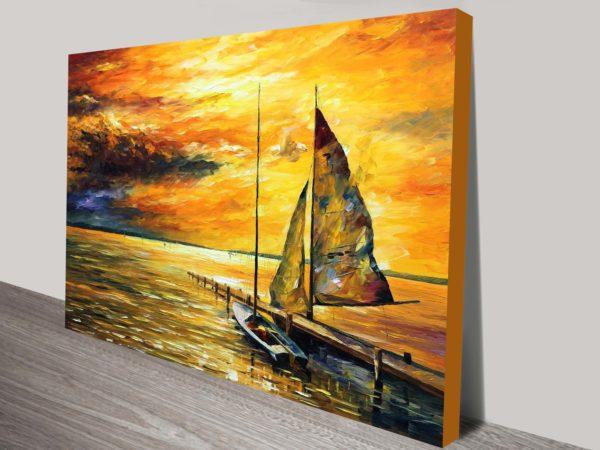 sailing to the future leonid afremov canvas print