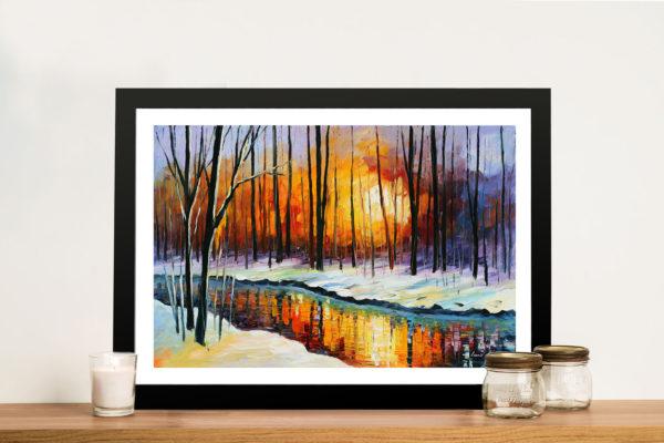 Winter Sun Buy Leonid Afremov Artwork Paintings Prints