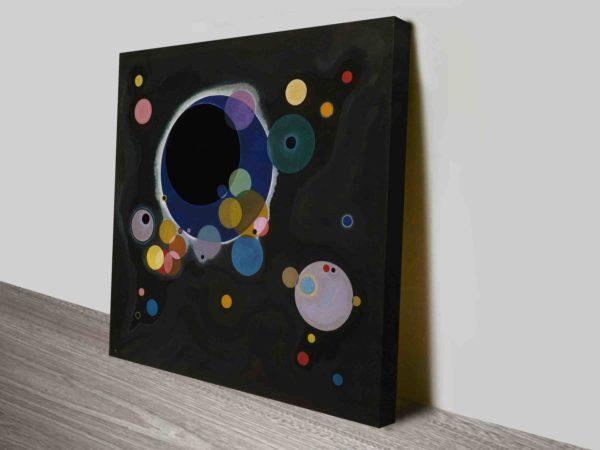 Several Circles by Wassily Kandinsky Canvas Wall Art