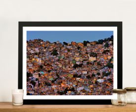 Nightfall in the Favela da Rocinha Photo Canvas