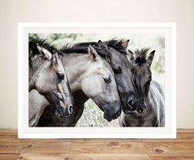 Four Konik Horses - Jaap Van Den Great Gift Ideas