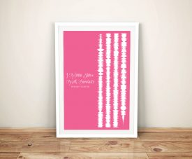 I Wanna Dance With Somebody Soundwave Artwork Prints