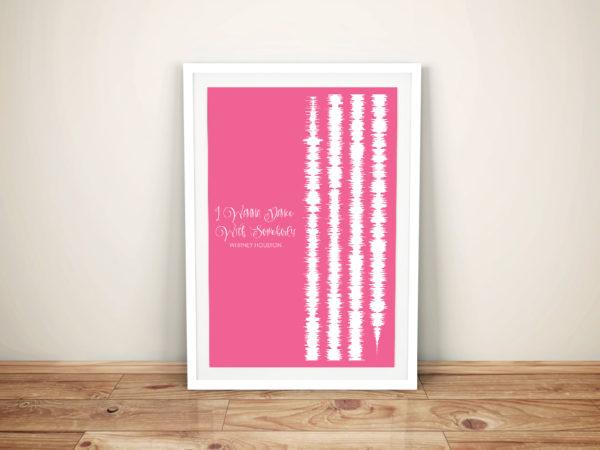 I Wanna Dance With Somebody Soundwave Artwork Prints