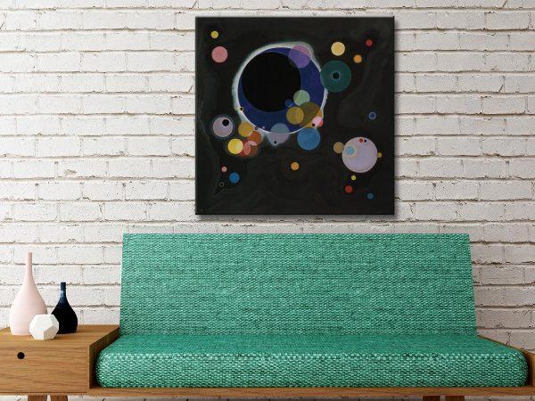 Buy Several Circles Abstract Canvas Wall Art