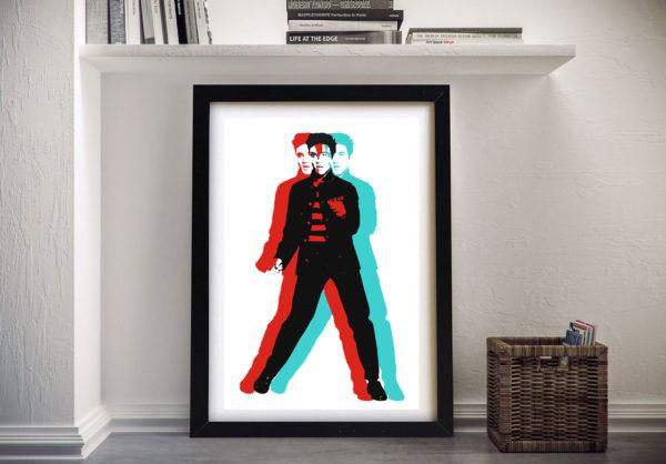 Elvis Presley Pop Art Framed Wall Picture