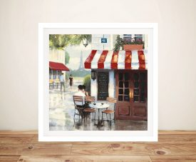 James Wiens - Relaxing At The Cafe II Canvas Wall Art
