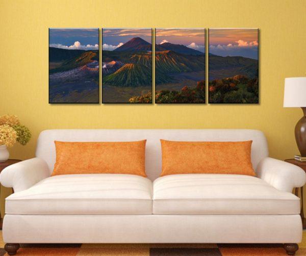 Volcano Dawn Four Piece Art Display
