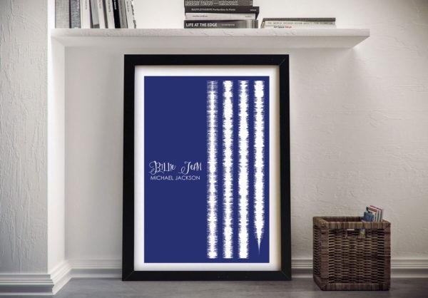 Billie Jean By Michael Jackson Soundwaves Art