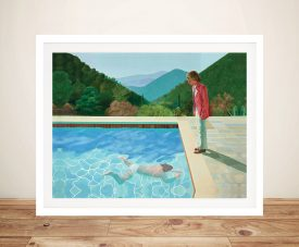 David Hockney Portrait of an Artist Pool with Two Figures Framed Wall Art