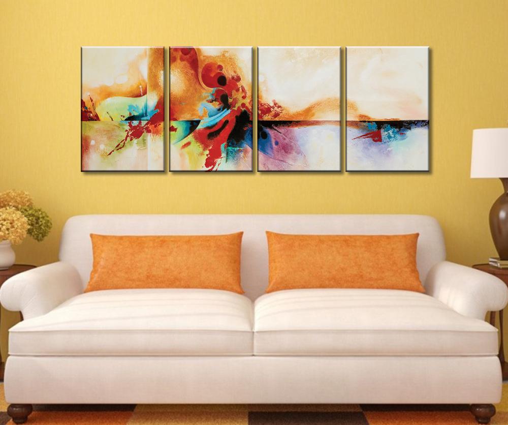Genesis Abstract 4 Piece Split Canvas Art | Four Panel Canvas Photo ...