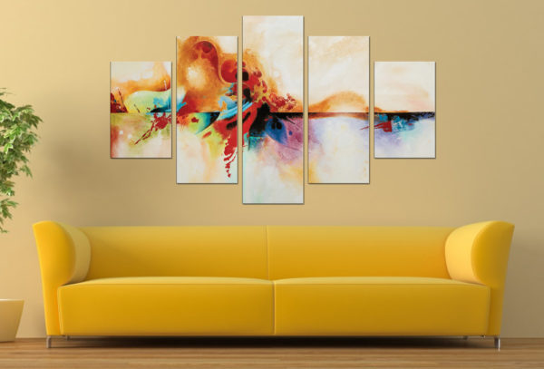Genesis Abstract Diamond Split Canvas Art