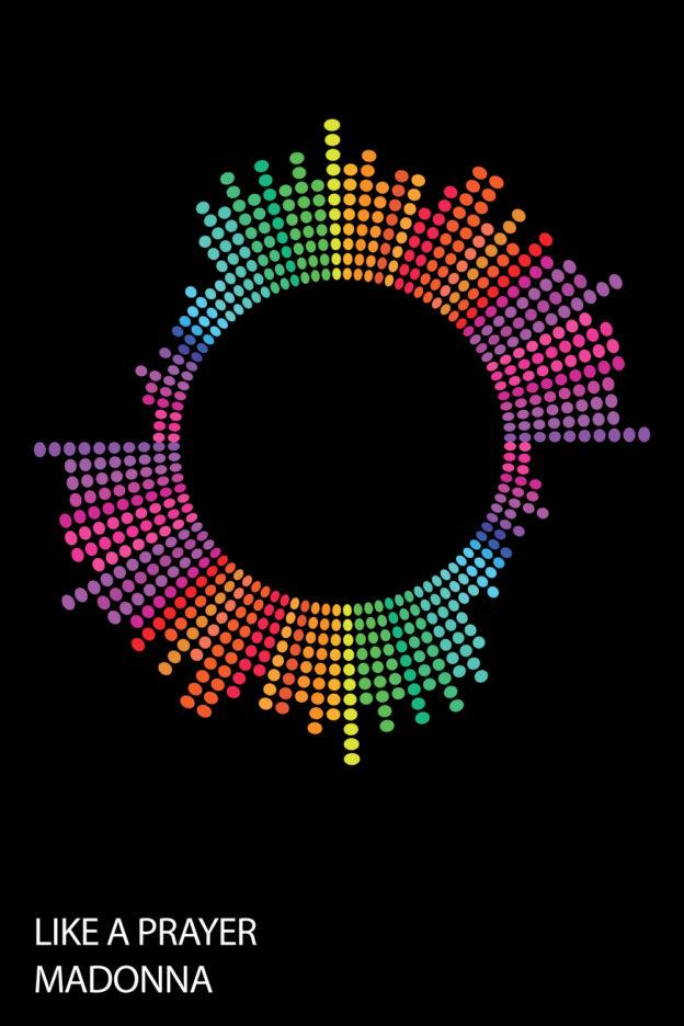 Dotted Beats Unique Soundwave Wall Art For Sale