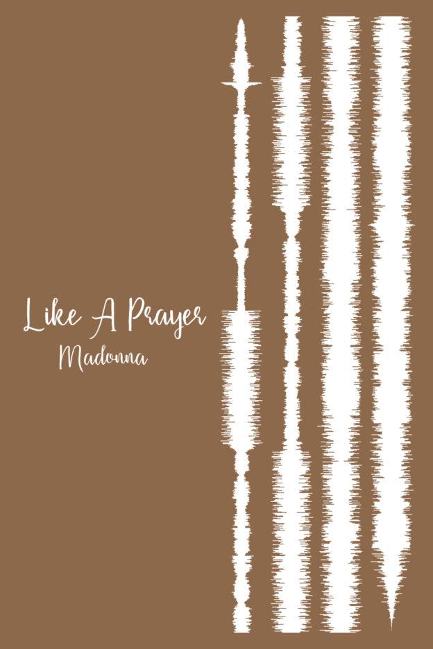 Like A Prayer By Madonna Soundwaves Framed Canvas Prints