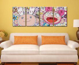 Kaikai & Kiki Dreaming of Shangri-La 4 Panel Wall Art