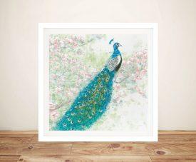 Spring Peacock l Pink Flowers - James Wiens Wall Prints