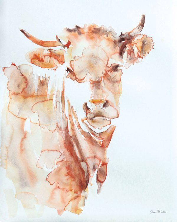 Village Cow Crop By Aimee Del Valle Wall Art Australia