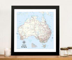 Australia Personalised Blue Push Pin Travel Map