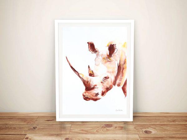 Rhino - Aimee Del Valle Canvas Wall Art
