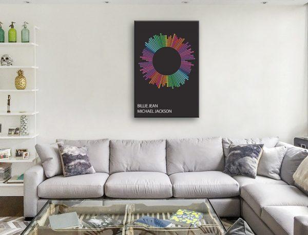 Billie Jean Dotted Beats Artwork Canvas Artwork Australia