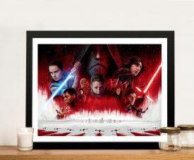 The Last Jedi Movie Wall Art