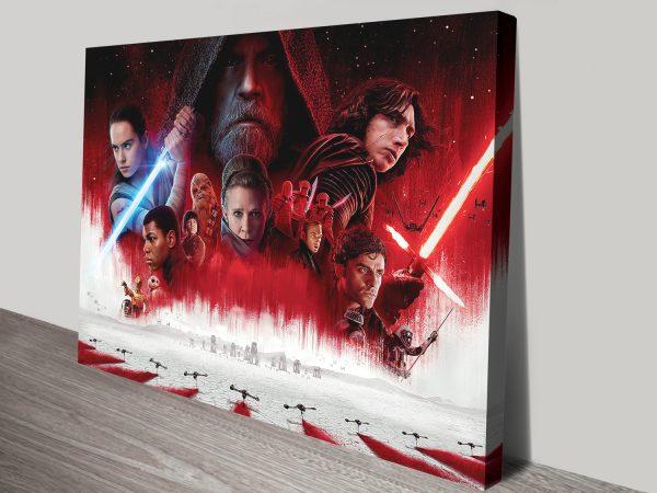 The Last Jedi Characters Artwork Canvas Print