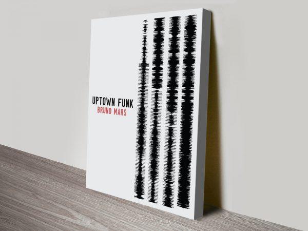 Uptown Funk Soundwave Artwork Canvas Prints Online
