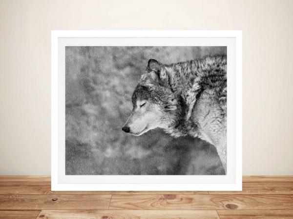 Let It Snow Wolf Wall Art Online
