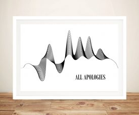 All Apologies Nirvana Soundwave Wall Art