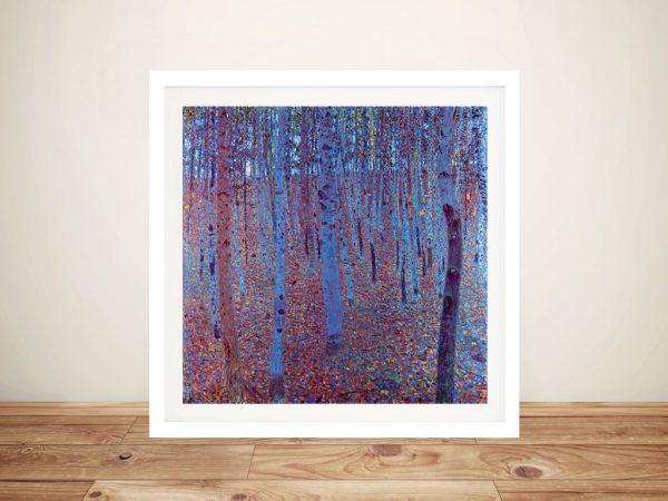 Beech Forest by Klimt Framed Canvas Art