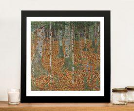 Birch Forest by Klimt Canvas Artwork