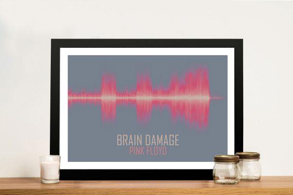 Pink Floyd Brain Damage Soundwave Artwork