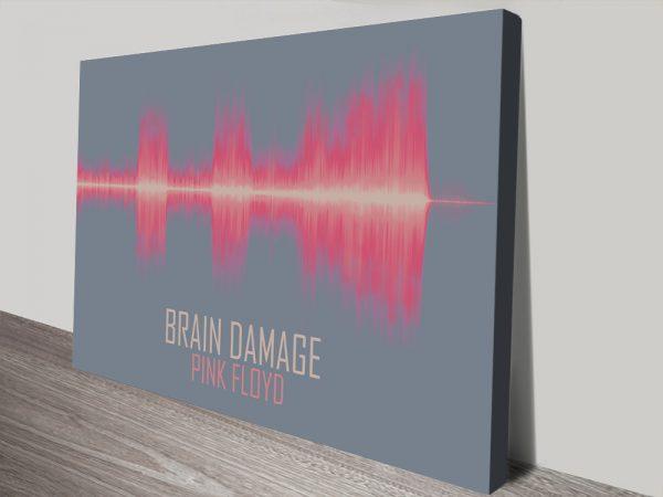 Pink Floyd Brain Damage Cheap Soundwave Art Lugarno Sydney Australia