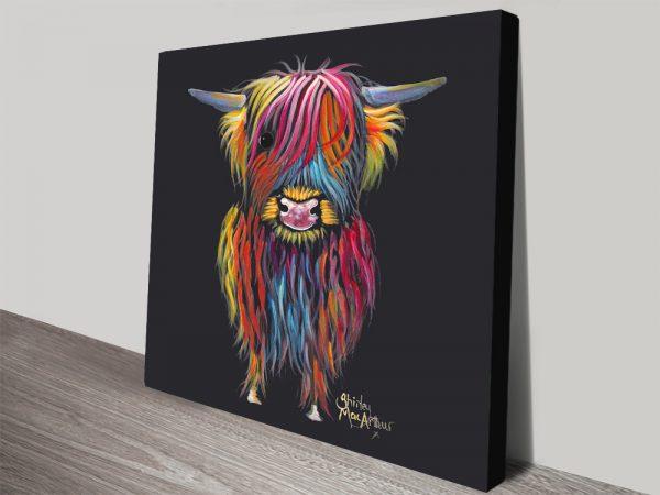 Braveheart Highland Cows Framed Canvas Prints Australia