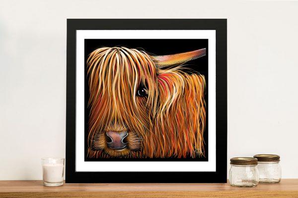 BuTTeRNuT Hairy Highland Framed Artwork