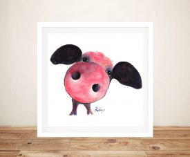 Clarence Personable Pig Shirley MacArthur Wall Art
