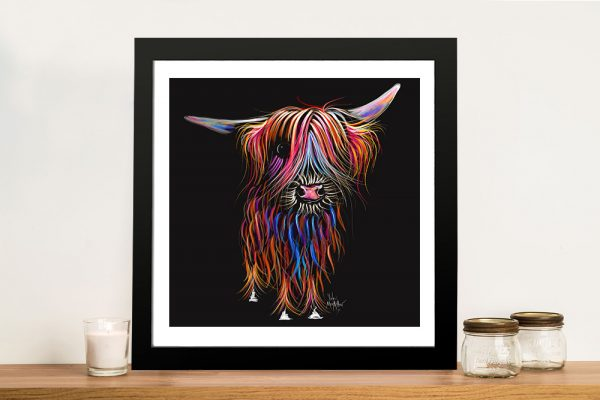 CoCo Happy Highland Shirley MacArthur Wall Art