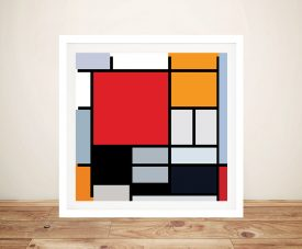 Piet Mondrian Composition Canvas Print