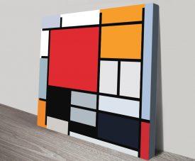 Piet Mondrian Composition Canvas Wall Art