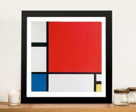 Red Blue and Yellow Piet Mondrian Framed Wall Art