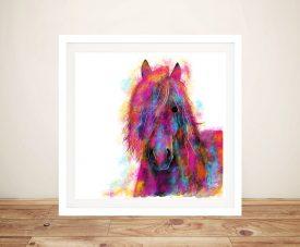 Friesian Wild Horse Shirley MacArthur Prints