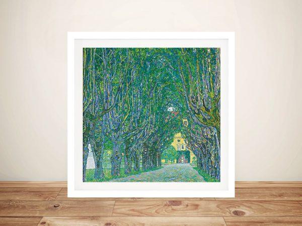 Gustav Klimt Avenue In The Park Framed Art