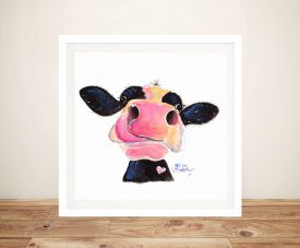 Jammie Jessie Jersey Cow Canvas Prints