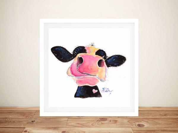 Jammie Jessie Jersey Cow Canvas Prints