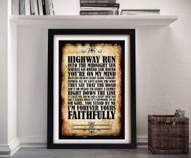 Journey Faithfully Song Lyrics Framed Art