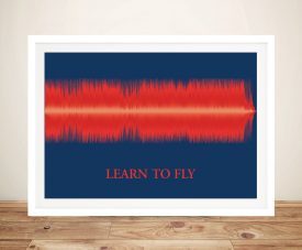 Learn To Fly Soundwave Framed Wall Art