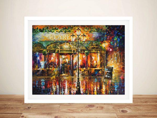 Misty Cafe Vibrant Framed Wall Prints
