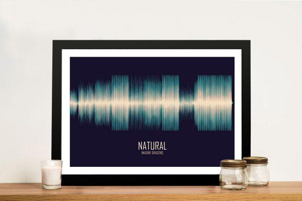 Natural by Imagine Dragons Soundwave Art