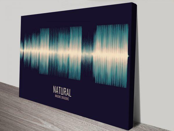 Buy Natural by Imagine Dragons Soundwave Canvas Prints Online