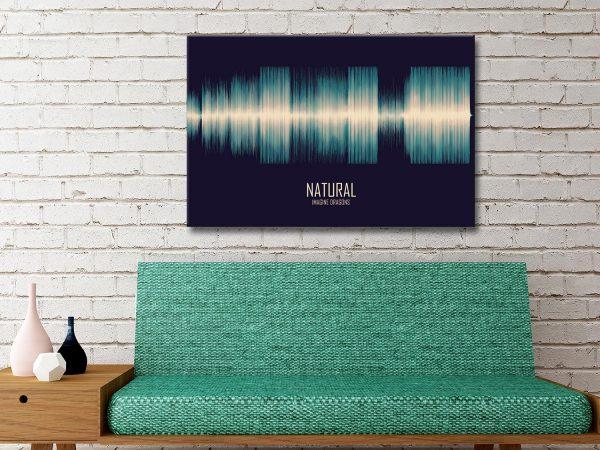 Buy Imagine Dragons Natural Soundwave Canvas Artwork Queensland AU