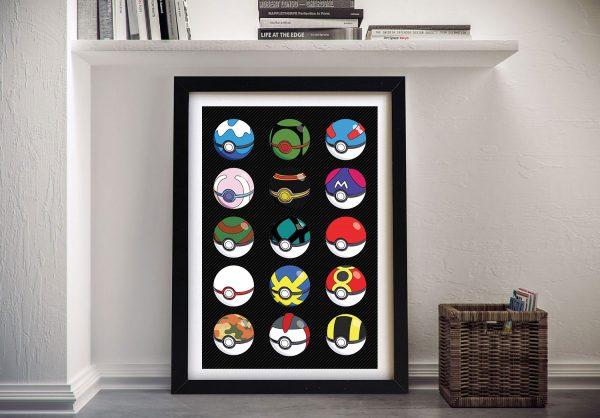 Pokemon Pokeballs Framed Wall Art Online